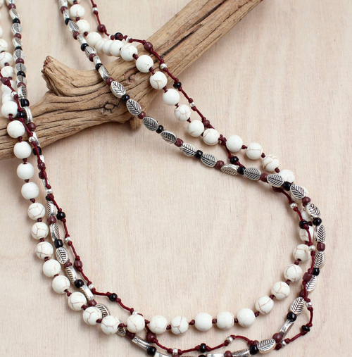 Nature Girl Triple Strand Necklace