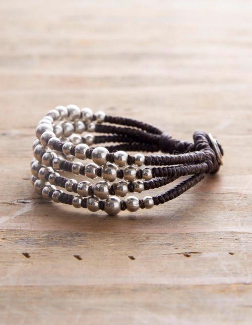 Silver Scatter Bead Bracelet