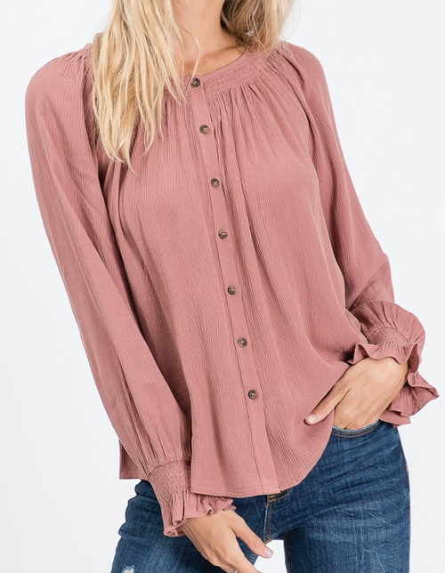 Emery Crinkle Top
