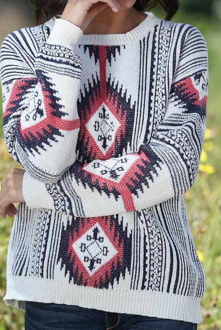 Renee Aztec Sweater