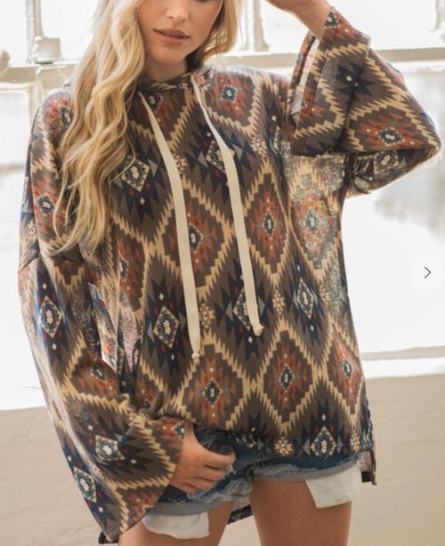 Harmony Aztec Sweater Hoodie
