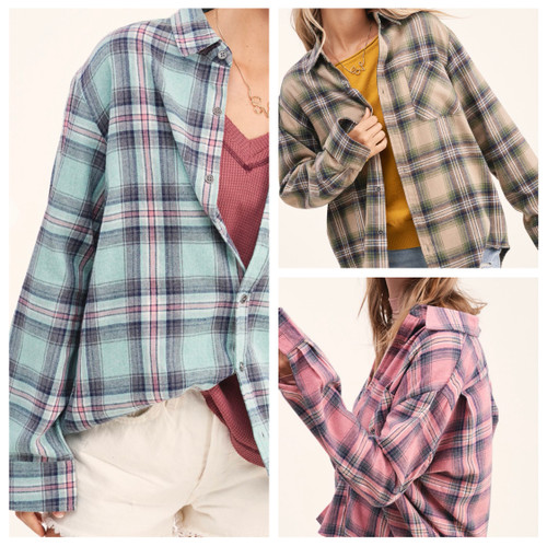 Morgan Oversized Flannel Top