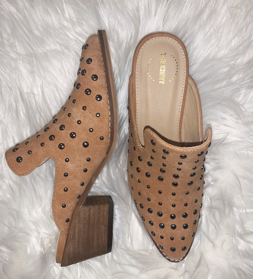 Cara Whiskey Studded Mules