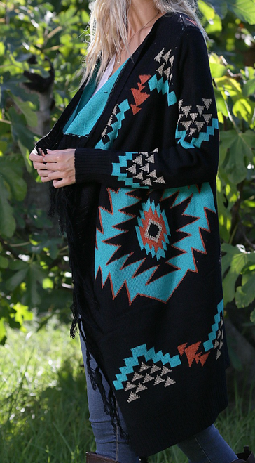 Journee Aztec Cardigan