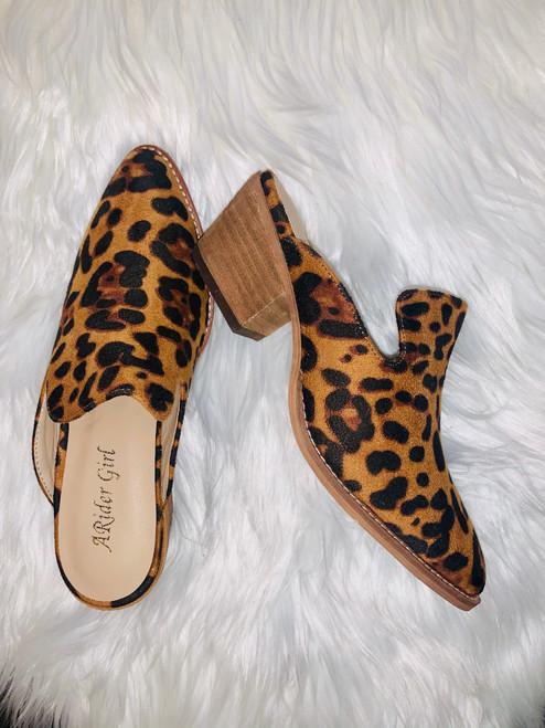 Liza Leopard Mules