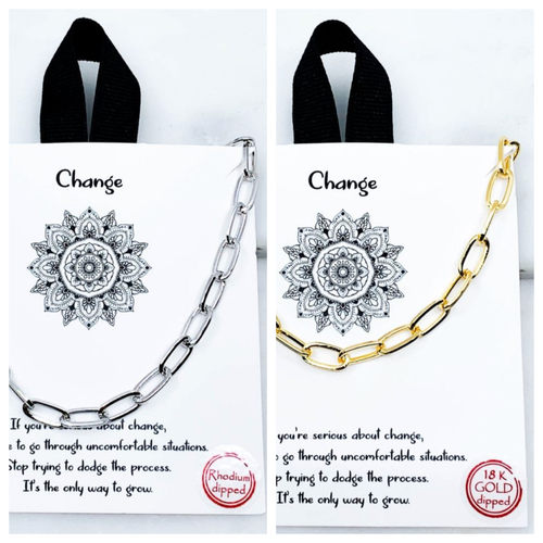 Change Carded Necklace