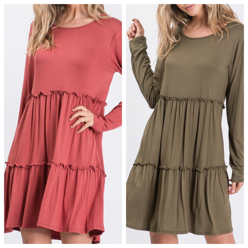 Brielle Dress with Ruffled Detail