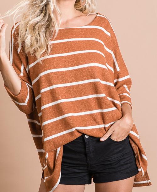 Maria Brushed Stripe Top