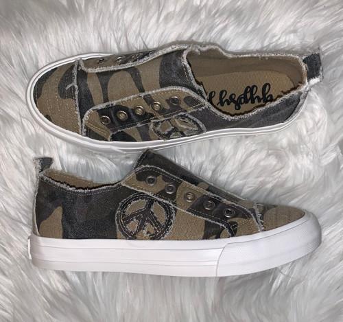 Camo Slip On Sneaker by Very G