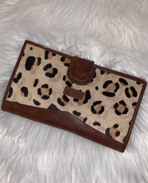 Jungle Leopard & Suede Wallet