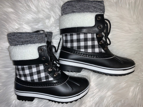 Remington Black/White Casual Rain Boots