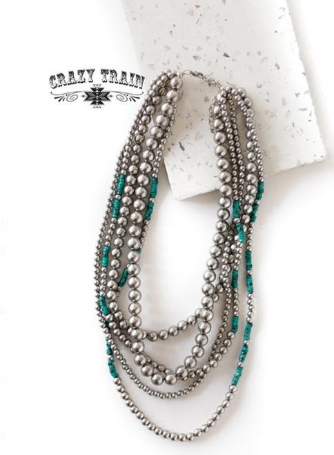 Brazos Bend Multi Strand Necklace