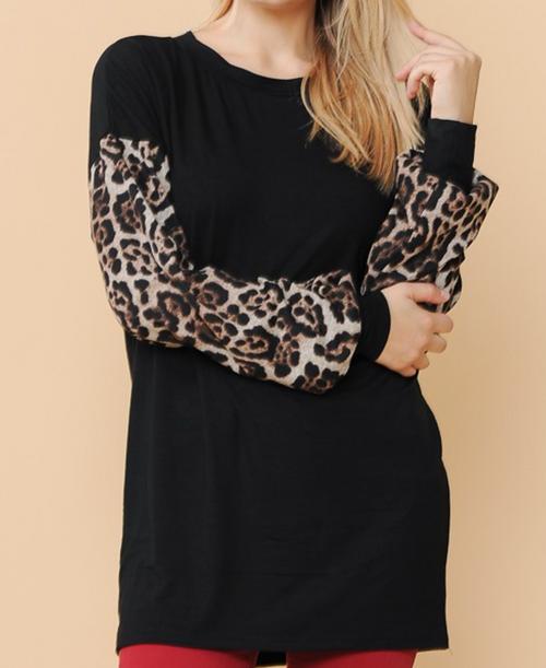 Valerie Leopard Sleeve Tunic