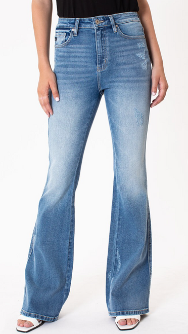 Katie High Rise Flair Jean by KanCan