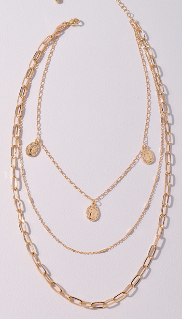 Layered Gold Necklace w/ Charms