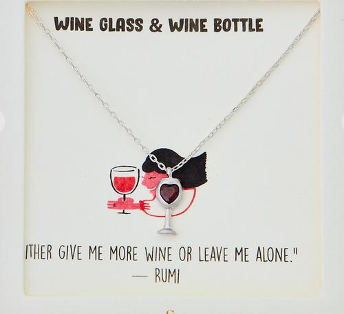 "16.5"" Wine Glass Pendant"