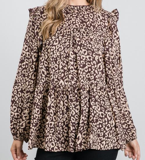 Henleigh  Leopard Print Blouse