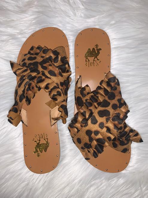 Lola Leopard Slip On Sandals