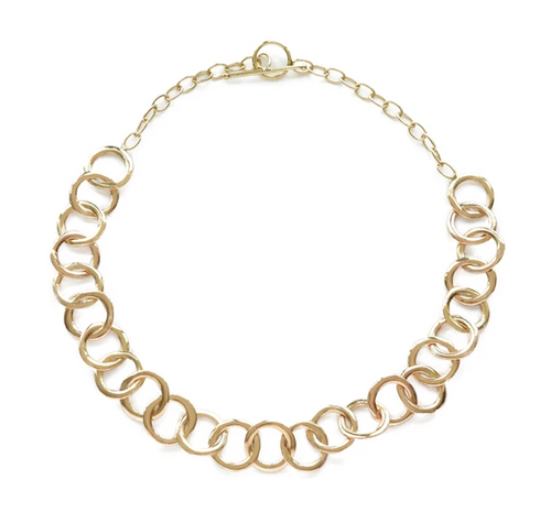 Organic Circle Chain Necklace by Ink + Alloy