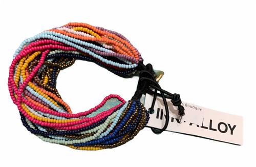 Multi-Stripe Multi Layer Bead Bead Bracelet by Ink + Allow