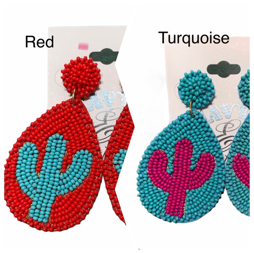 Arizona Cactus Seed Bead Earrings