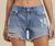 "High Rise Denim Shorts 4.5"" Inseam"