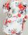 Tropical Ruffle Sleeve Kimono Cardigan