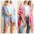 Tie Dye Kimono w/ Colorful Fringe