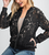 Floral Lace Zip Up Bomber Jacket