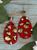 Faux Leopard Hide Earrings