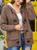 Alison Fur Hood Horn Button Sweater Cardigan