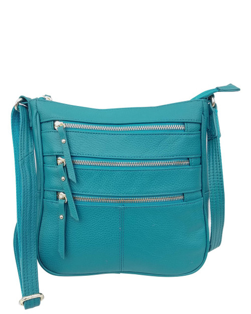 Chic Triple  Zip Concealed Carry Purse
