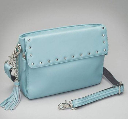 Pastel Mint Lambskin Concealed Carry Purse