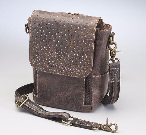 Distressed Leather CCW  Cross body Bag