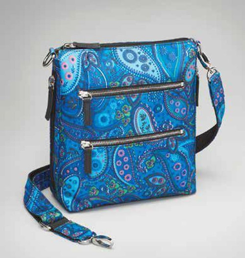 Paisley Blue CROSS BODY QUILTED SAC Concealed Carry Handbag