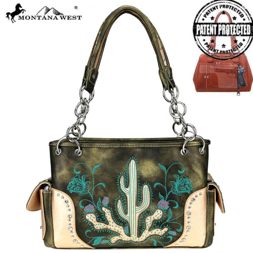 Embroidered Collection Concealed Carry Satchel
