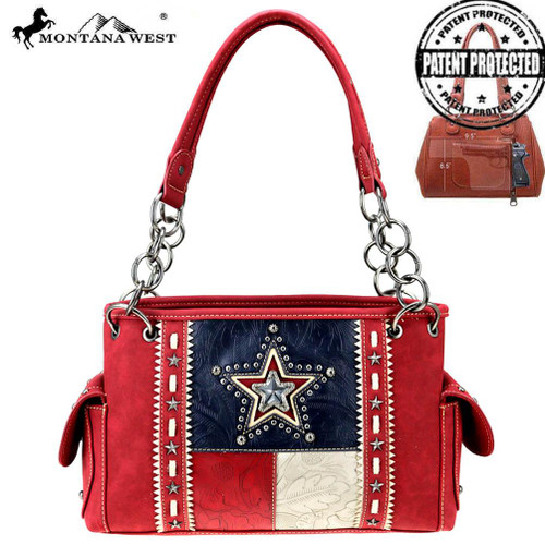 Texas Pride Collection Concealed Carry Satchel
