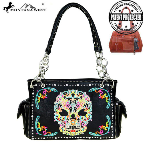 Skull Collection Concealed Carry Satchel