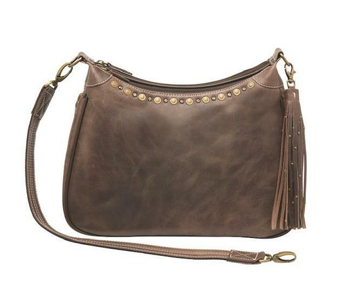 Distressed Leather RFID Hobo Purse