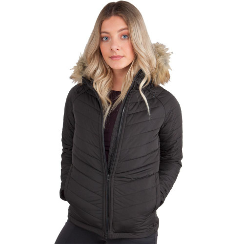 Womens Faux Fur Concealed Carry Jacket