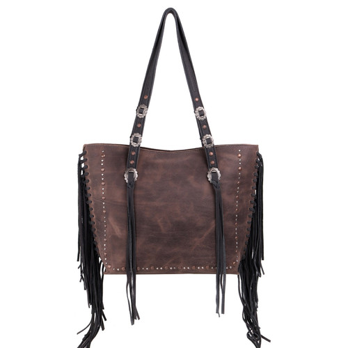 Leather Fringe Collection Safety Travel Tote