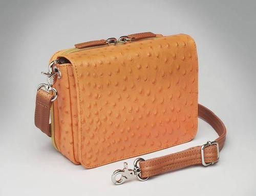 Orange Lambskin Concealed Carry Organizer