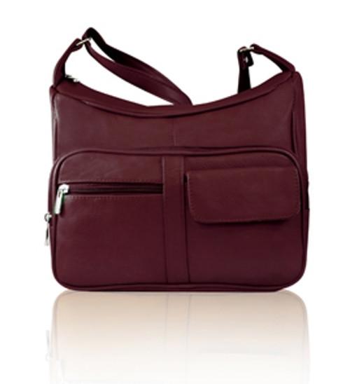 Leather  Double Pocket Holster Handbag
