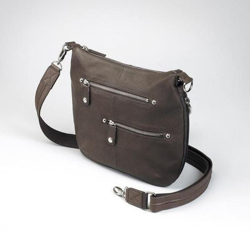 Leather  Chic CCW Chrome Zip Handbag