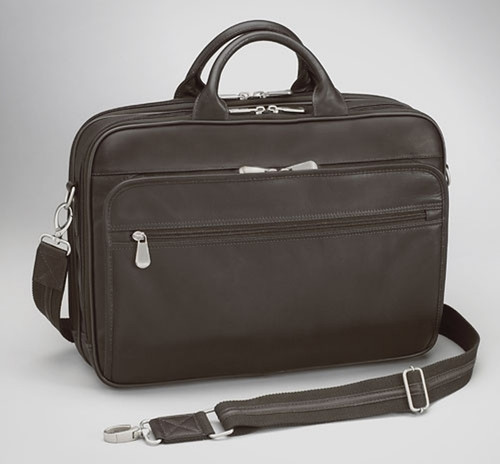Cowhide Leather CCW Laptop Briefcase