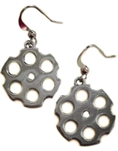 Egunbags Has The Urban Moxy  Gun Silver Earrings