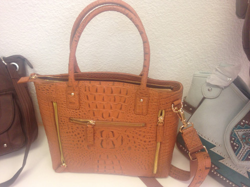 NEW 3D Croco Debossed American Gun Handbag