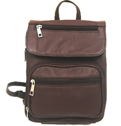 New Concealed Carry Leather  Back Pack Purse