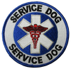 Service Dog, On Duty Reflective Vest - Includes Service Dog Patch And On Duty Rocker Patch - Reflective Strip