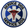 """Service Dog"" Patch - 100% Embroidered Nylon - Sewn In - 3.5"" - Service Animal"